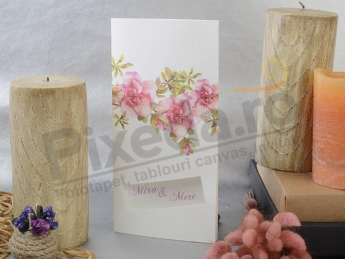 Imagine Invitatii nunta 17106 stil floral