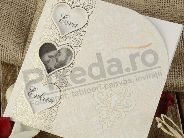 Imagine Invitatii nunta 20414 decupaje inimioare