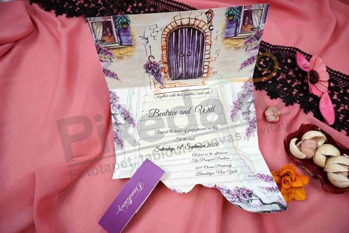 Imagine Invitatii nunta 63650 flori de lavanda