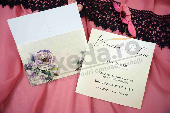 Imagine Invitatii nunta 63678 model floral romantic