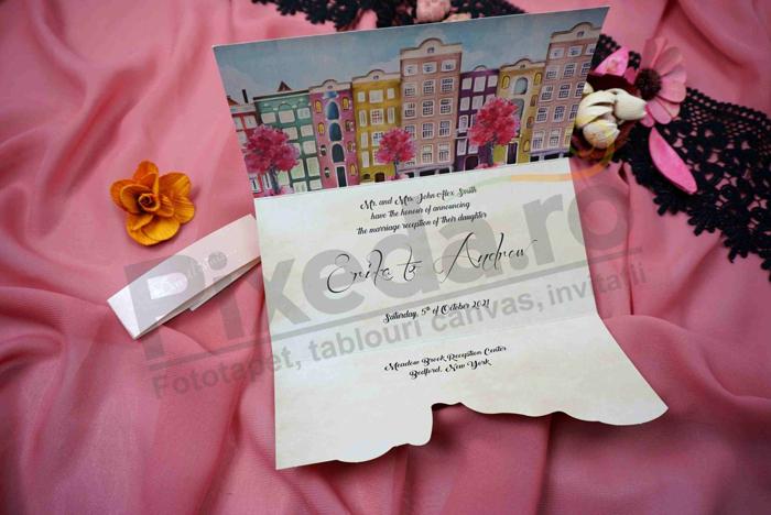 Imagine Invitatii nunta 63691 model romantic orasel