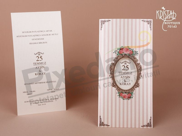 Imagine Invitatii nunta 70143 model rama vintage