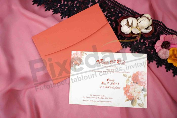 Imagine Invitatii nunta 70259 flori rosii