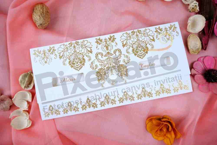 Imagine Invitatii nunta 70324 decupaj flori