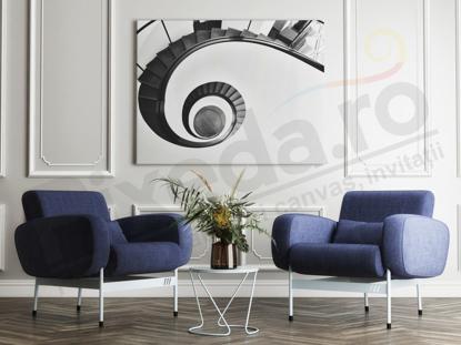 Imagine Tablou canvas abstract PX 20001 spirala alb si negru