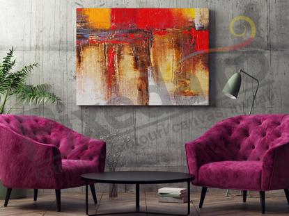 Imagine Tablou canvas abstract PX 20002 nuante de toamna