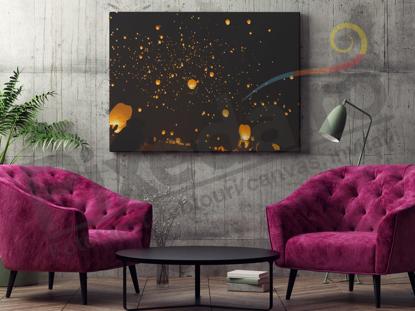 Imagine Tablou canvas abstract PX 20003 picaturi aurii