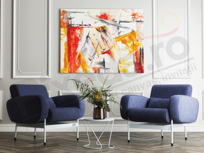 Imagine Tablou canvas abstract PX 20004 dungi in nuante calde