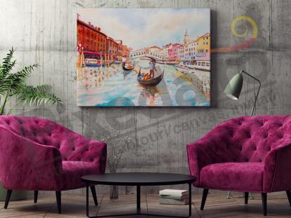 Imagine Tablou canvas abstract PX 20005 peisaj pictat