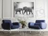 Imagine Tablou canvas animale PX 20013 elefanti alb negru