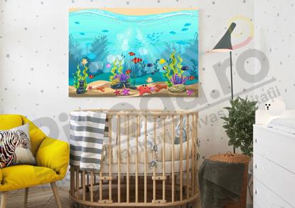 Imagine Tablou canvas camera copiilor PX 20023 prietenii din ocean