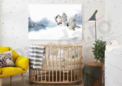 Imagine Tablou canvas camera copiilor PX 20026 pasari