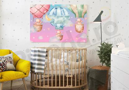 Imagine Tablou canvas camera copiilor PX 20027 baloane colorate