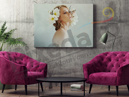 Imagine Tablou canvas flori PX 20034 flori albe
