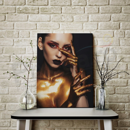 Imagine Tablou canvas abstract PX 21003 frumusete aurie