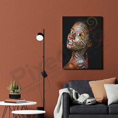 Imagine Tablou canvas abstract PX 21004 tribal femeie africana
