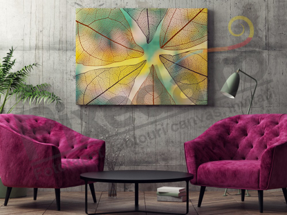 Imagine Tablou canvas flori PX 20036 frunze macro