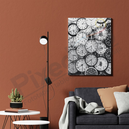 Imagine Tablou canvas abstract PX 21005 infinity clock
