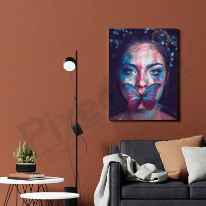 Imagine Tablou canvas abstract PX 21008 buze fluturas