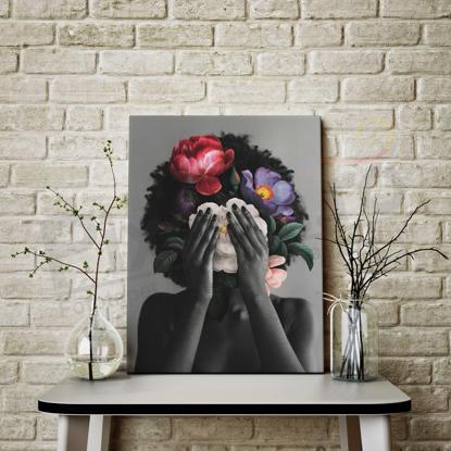 Imagine Tablou canvas abstract PX 21009 fata inflorata