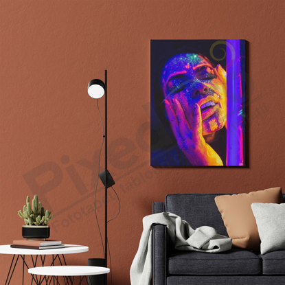 Imagine Tablou canvas abstract PX 21011 neon portret