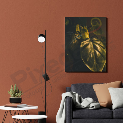 Imagine Tablou canvas abstract PX 21012 frunze verzi