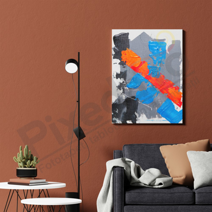 Imagine Tablou canvas abstractPX 21015 atingere colorata
