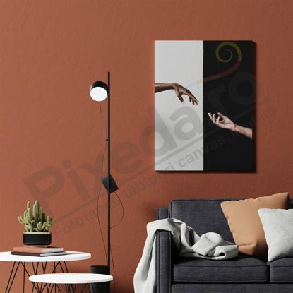Imagine Tablou canvas abstract PX 21017 maini ying yang