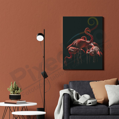 Imagine Tablou canvas animale PX 21022 flamingo