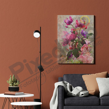 Imagine Tablou canvas flori PX 21031 buchet bujori