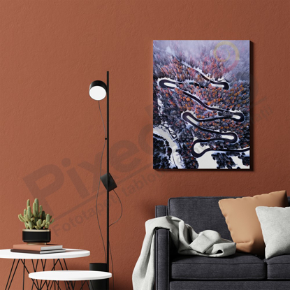 Imagine Tablou canvas peisaj PX 21037 drum de iarna