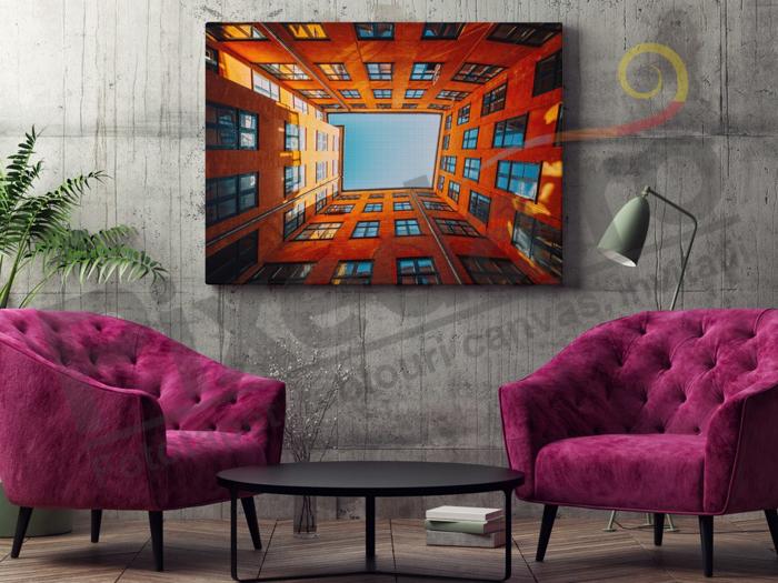 Imagine Tablou canvas urban PX 20053 blocuri