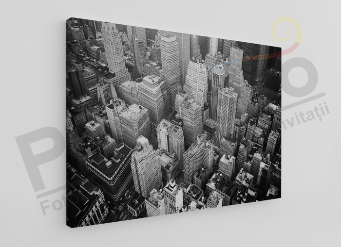 Imagine Tablou canvas urban PX 20058 oras alb negru