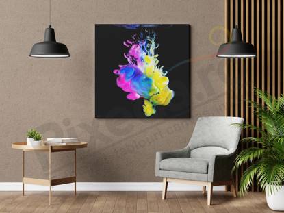 Imagine Tablou canvas abstract PX 22002 smoke in the water