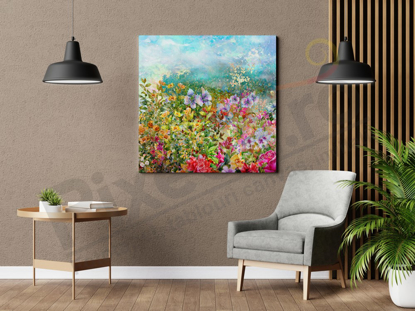 Imagine Tablou canvas flori PX 22026 camp de flori