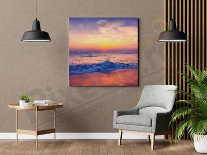 Imagine Tablou canvas peisaj PX 22033 apusul pe plaja