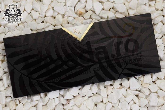 Imagine Invitatii nunta 19301 design negru elegant