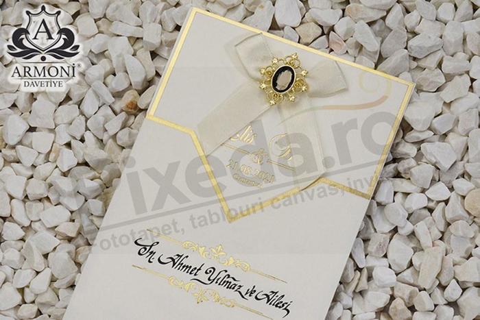 Imagine Invitatii nunta 19315 auriu bijuterie